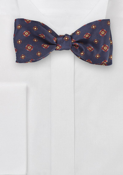 Autumn Hued Floral Bow Tie