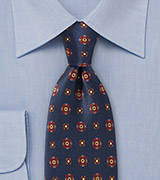 Deep Blue Floral Tie by Cantucci