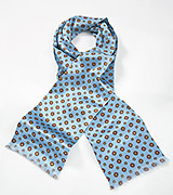 Art Deco Silk Scarf in Powder Blue