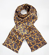 Regal Paisley Scarf in Vintage Gold