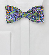 Bow Tie in Green, Pink, and Purple