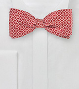 Retro Print Bow Tie in Red