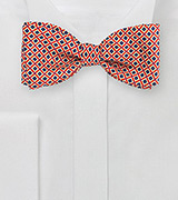 Vintage Check Bow Tie in Red, Yellow, Navy