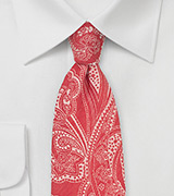 Red Cotton Summer With With Paisley Print