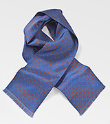 Floral Patterned Scarf in Classic Blue