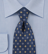 Diamond Buds Tie in Bold Navy
