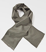 Mens Silk Scarf in Olive Green