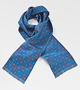 Geometric Floral Scarf in Marine Blue