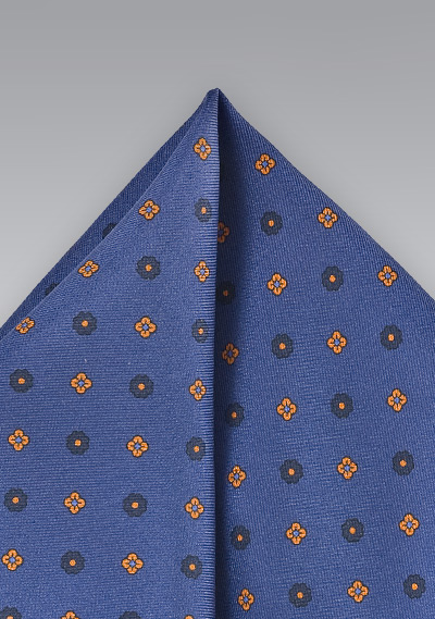 Classic Dark Blue Pocket Square