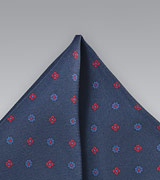 Silk Pocket Square in Midnight Blue