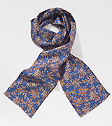Paisley Silk Scarf in Sapphire Blue