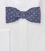 Heritage Style Bowtie with Polka Dot Design