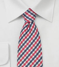 Summer Gingham Check Men's Tie