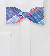 Madras Freestyle Bow Tie