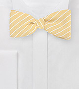 Summer Linen Bow Tie in Yellow