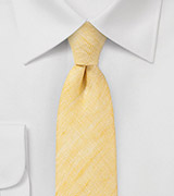 Skinny Tie in Vintage Yellow