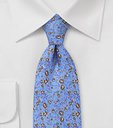 French Blue Floral Tie by Cantucci