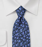 Royal Blue Italian Floral Tie