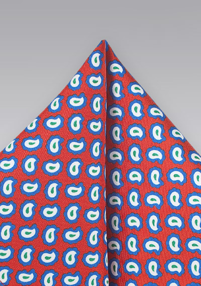 Pop Art Pocket Square in Red and Blue