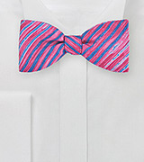 Tie Dye Bow Tie in Pink and Blue