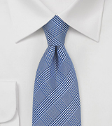Blue Glen Check Silk Tie