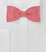 Red Glen Check Bow Tie