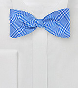 Blue and White Glen Check Bow Tie