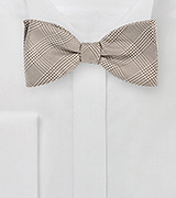 Glen Check Bow Tie in Golden Wheat