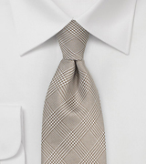 Taupe and Tan Glen Check Necktie