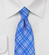 Horizon Blue Tie with Modern Checks