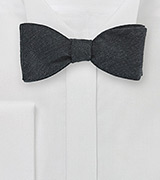 Charcoal Gray Wool Bow Tie