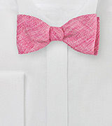 Red Linen Bow Tie
