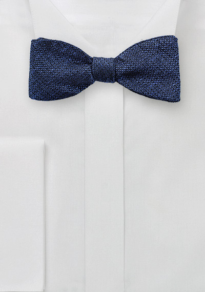 Textured Bow Tie in Midnight Navy