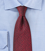 Textured Designer Tie in Burgundy