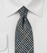 Trendy Slim Cut Tie in Snake Skin Design