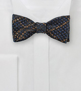 Snake Skin Design Bow Tie in Copper and Blue