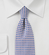Modern Foulard Print Tie in Light Blue