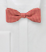 Foulard Print Bow Tie in Red and Orange