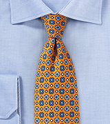 Graphics Print Tie in Orange