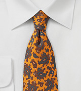 Golden Wool Paisley Tie