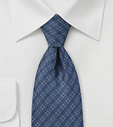Graphic Tie in Vintage Blue