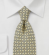 Swirl Patterned Tie in Yellows and Blues