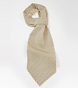 Vine Patterned Ascot in Yellows and Blues
