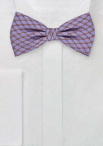 Pre-Tied Bow Tie in Lilac and Bronze