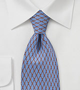 Steel Blue Diamond Tie