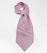 Vine Patterned Ascot in Pinks and Greens