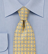 Art Deco Tie in Sorbet Yellow
