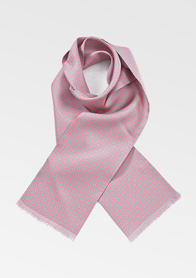 Charming Pink and Blue Mens Scarf