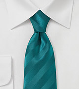 Trendy Teal Colored Slim Necktie