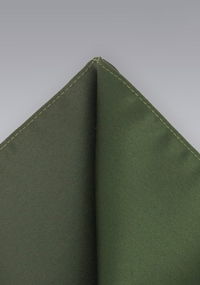Dark Olive Pocket Square